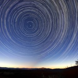 time lapse stars in circle