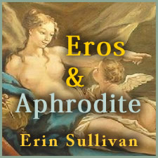 Aphrodite and Eros lounging