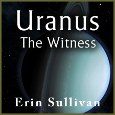 uranus on black background